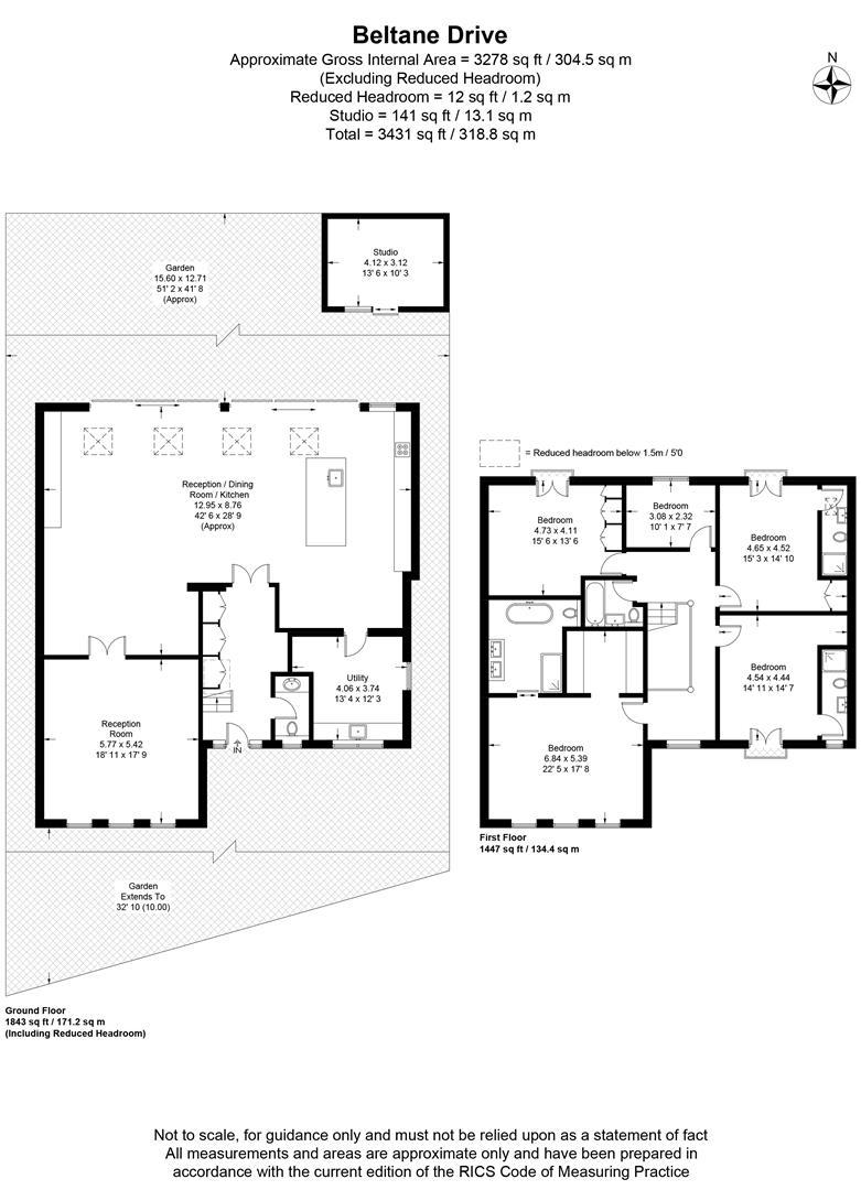 Floorplan for Beltane Drive, Wimbledon Village
